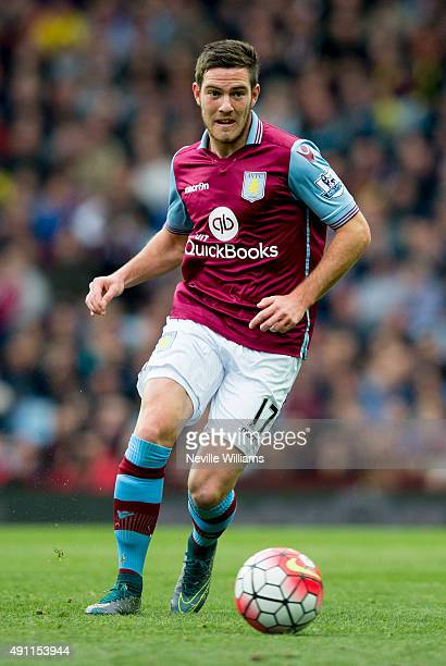 Jordan Veretout of Aston Villa during the Barclays Premier League match between Aston Villa and Stoke City at Villa Park on October 03 2015 in...