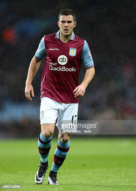 Jordan Veretout of Aston Villa during the Barclays Premier League match between Aston Villa and Watford at Villa Park on November 28 2015 in...
