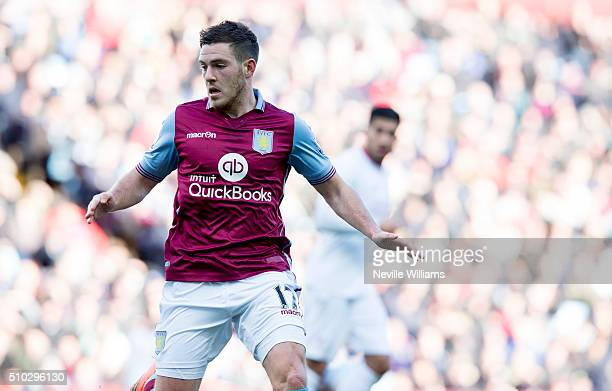 Jordan Veretout of Aston Villa during the Barclays Premier League match between Aston Villa and Liverpool at Villa Park on February 14 2016 in...