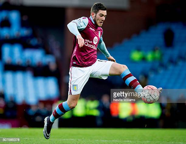 Jordan Veretout of Aston Villa during the Emirates FA Cup Fourth Round match between Aston Villa and Manchester City at Villa Park on January 30 2016...
