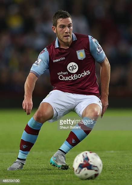 Jordan Veretout of Aston Villa in action during the Capital One Cup second round match between Aston Villa and Notts County at Villa Park on August...