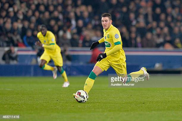 Jordan Veretout of FC Nantes in action during the 1/8 Finals of the French League Cup at Parc des Princes on February 11 2015 in Paris France