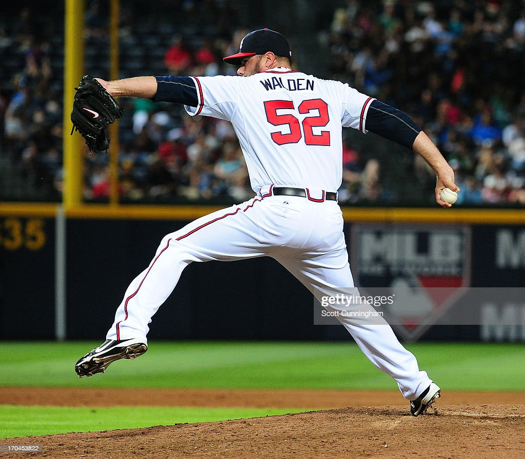 <a gi-track='captionPersonalityLinkClicked' href=/galleries/search?phrase=Jordan+Walden&family=editorial&specificpeople=713142 ng-click='$event.stopPropagation()'>Jordan Walden</a> #52 of the Atlanta Braves pitches against the Pittsburgh Pirates at Turner Field on June 4, 2013 in Atlanta, Georgia.