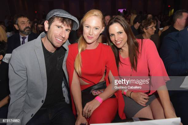 Jordan WallSheena Colette and Cristina Figarola attends the Hialeah Series Premiere at the Milander Center for Arts and Entertainment on November 11...