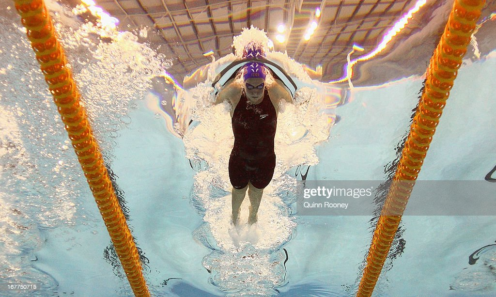 Jordan White of Australia competes in the Women's 200 Metre Butterfly Semi Final during day four of the World Swimming Championships at SA Aquatic and Leisure Centre on April 29, 2013 in Adelaide, Australia.