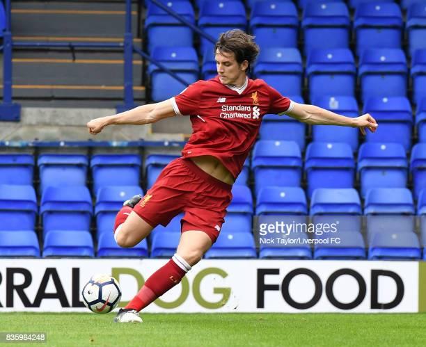 Jordan Williams of Liverpool in action during the Liverpool v Sunderland U23 Premier League game at Prenton Park on August 20 2017 in Birkenhead...