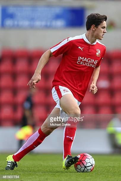Jordan Williams of Swindon Town during the PreSeason Friendly match between Swindon Town and West Bromwich Albion at the County Ground on July 25...