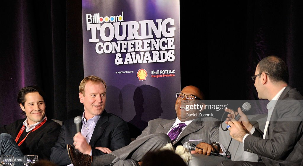 Jordan Zachary, Charlie Walker, Charles J. Johnson and Bill Werde attend the 2012 Billboard Touring Conference & Awards Keynote Address at Roosevelt Hotel on November 8, 2012 in New York City.