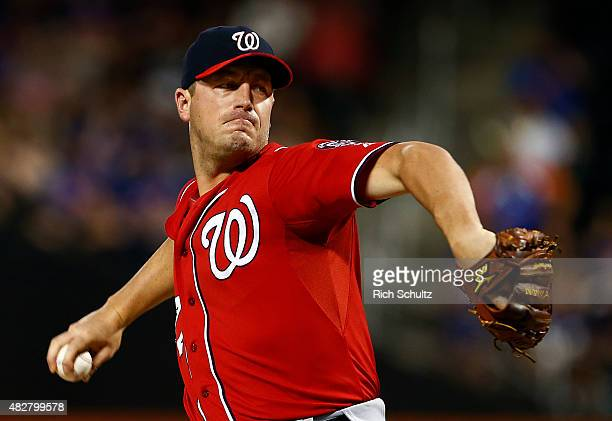 Jordan Zimmermann of the Washington Nationals delivers a pitch against the New York Mets during the first inning on August 2 2015 at Citi Field in...