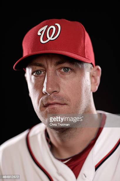 Jordan Zimmermann of the Washington Nationals poses for a portrait during photo day at Space Coast Stadium on March 1 2015 in Viera Florida