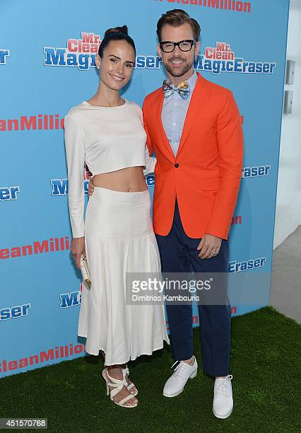 Jordana Brewster and Brad Goreski attend the Mr Clean Summer Fashion Party at Root Drive In on July 1 2014 in New York City