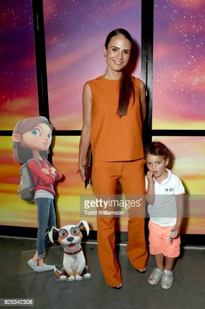 Jordana Brewster and Julian FormBrewster attend Amazon Studios' premiere for 'Lost In Oz' at NeueHouse Los Angeles on August 1 2017 in Hollywood...
