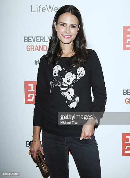 Jordana Brewster arrives at the UNIQLO Flagship Store Opening at The Beverly Center on October 9 2014 in Los Angeles California