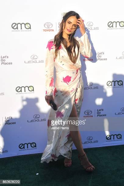 Jordana Brewster at the Environmental Media Association's 27th Annual EMA Awards at Barkar Hangar on September 23 2017 in Santa Monica California