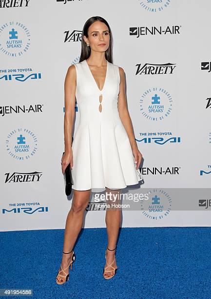 Jordana Brewster attends the Autism Speaks to Los Angeles Celebrity Chef Gala at Barker Hangar on October 8 2015 in Santa Monica California