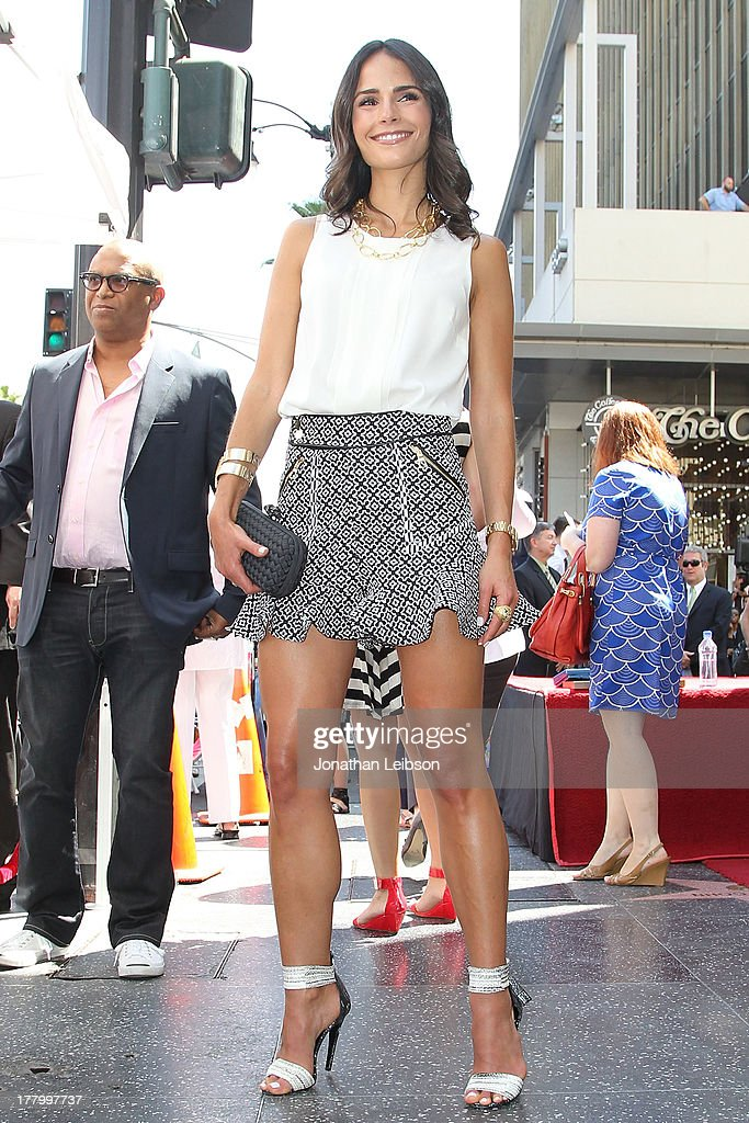 Jordana Brewster attends the ceremony honoring Vin Diesel with a star on The Hollywood Walk of Fame held on August 26, 2013 in Hollywood, California.