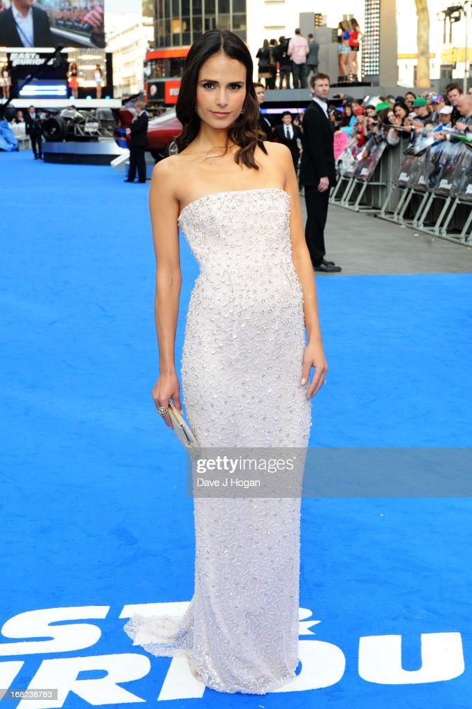 Jordana Brewster attends the world premiere of 'Fast And Furious 6' at The Empire Leicester Square on May 7, 2013 in London, England.