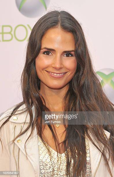 Jordana Brewster attends the world premiere of Kinect for Xbox 360 in LA where Cirque du Soleil performed an exclusive show at Galen Center on June...