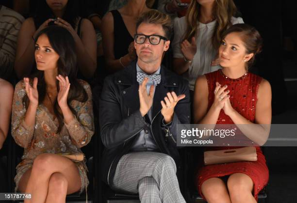 Jordana Brewster Brad Goreski and Minka Kelly attend the Jenny Packham Runway Show during the Spring 2013 MercedesBenz Fashion Week at The Studio...