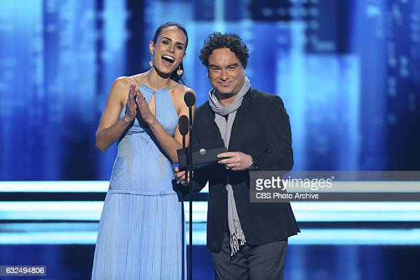 Jordana Brewster Johnny Galecki during the PEOPLE'S CHOICE AWARDS 2017 the only major awards show where fans determine the nominees and winners...