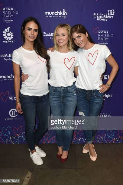 Jordana Brewster Kristen Bell and Selma Blair attend the Alliance of Moms Raising Baby presented by CuddleBright on November 18 2017 in Los Angeles...