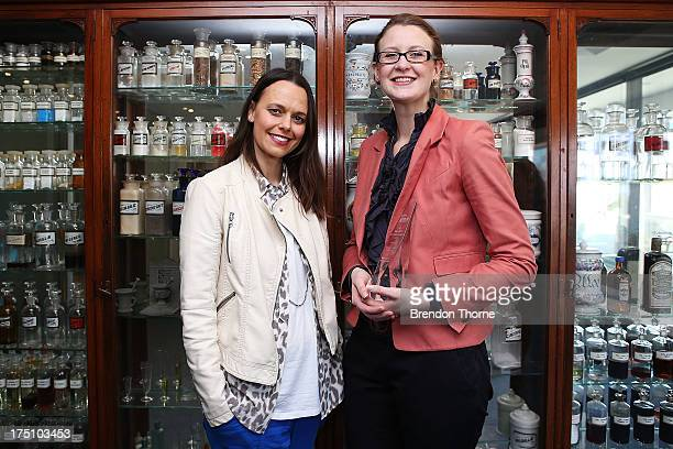 Jordana Martin and Mia Freedman pose on August 1 2013 in Sydney Australia To celebrate World Breastfeeding Week The Pharmacy Guild of Australia was...