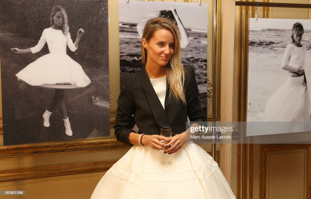 Jordane Crantelle attends a private cocktail reception for the presentation of the Delphine Manivet Collection during Paris Fashion Week Fall/Winter 2013 on February 28, 2013 in Paris, France.
