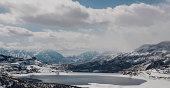 Jordanelle Reservoir in winter, Park City, Utah, USA