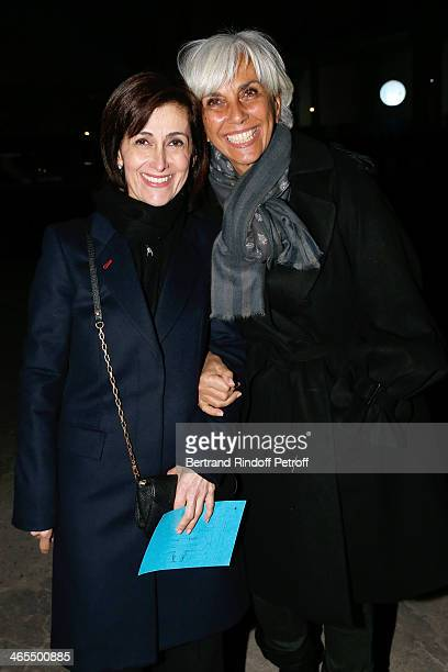 Jordania Ambassador Dina Kawar and Linda Pinto attend the 'Nuit De La Chine' Opening Night at Grand Palais on January 27 2014 in Paris France