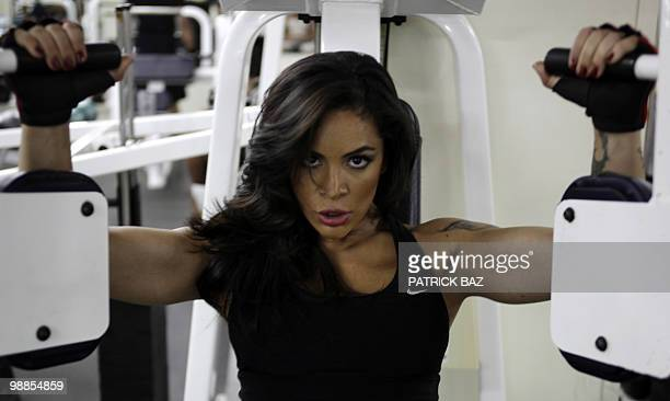 Jordanian bodybuilder Farah Malhass trains at a gym in Amman on April 28 2010 Malhass is set on winning notoriety as a bodybuilder but she faces more...