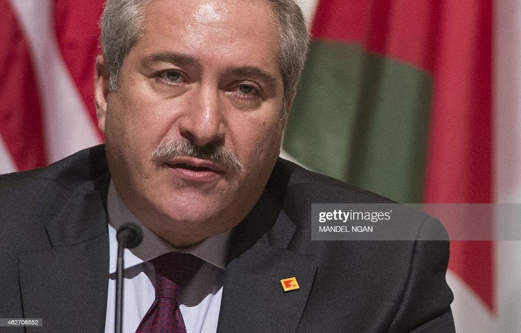 Jordanian Foreign Minister Nasser Judeh speaks during a signing ceremony for a memorandum of understanding for US assistance to Jordan on February 3, 2015 at a hotel in Washington, DC.