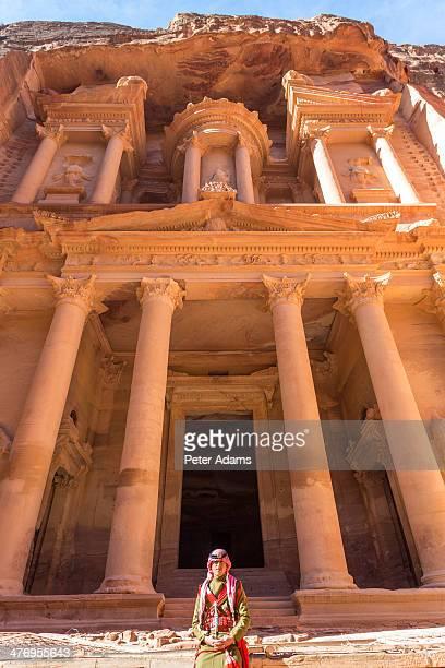 Jordanian guard, The Treasury, (El-Khazneh), Petra