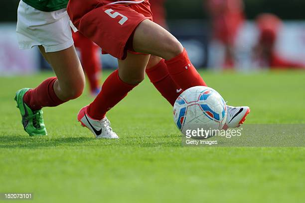 Jordanian player in action during the KOMM MIT amateur tournament at the August Wenzel Stadium on September 16 2012 in Barsinghausen Germany