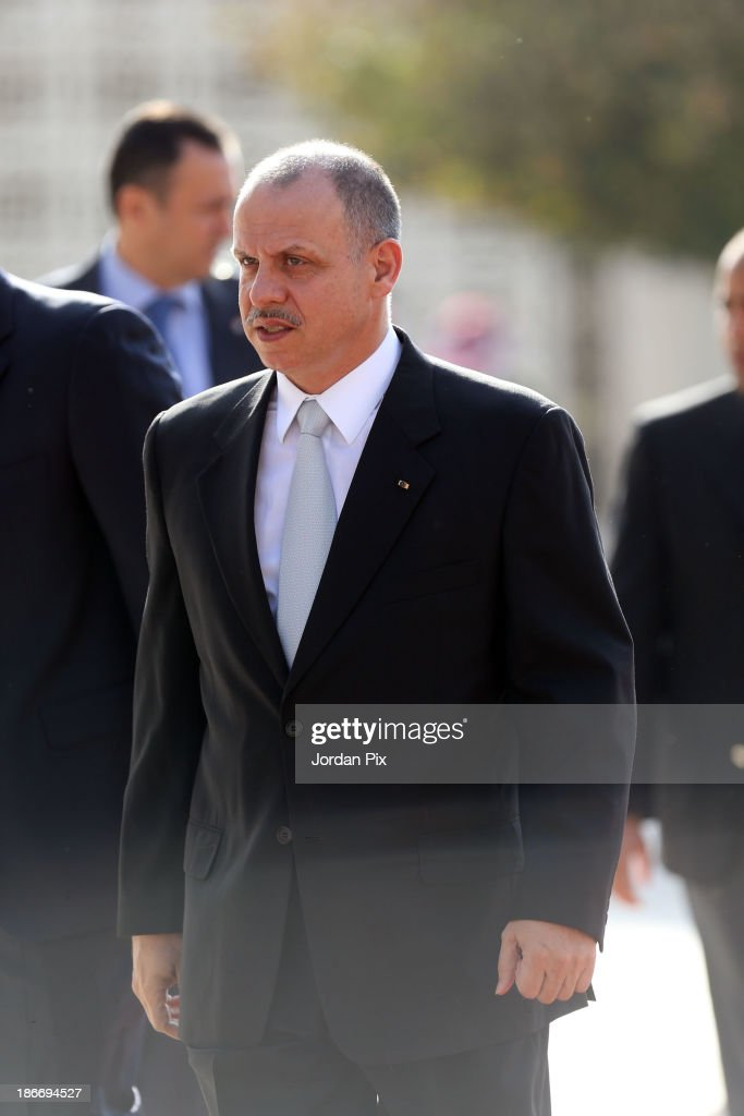 Jordanian Prince Faisal Bin Al Hussein arrives during the throne opening ceremony of the first ordinary session of the 17th Parliament on November 3, 2013 in Amman, Jordan.