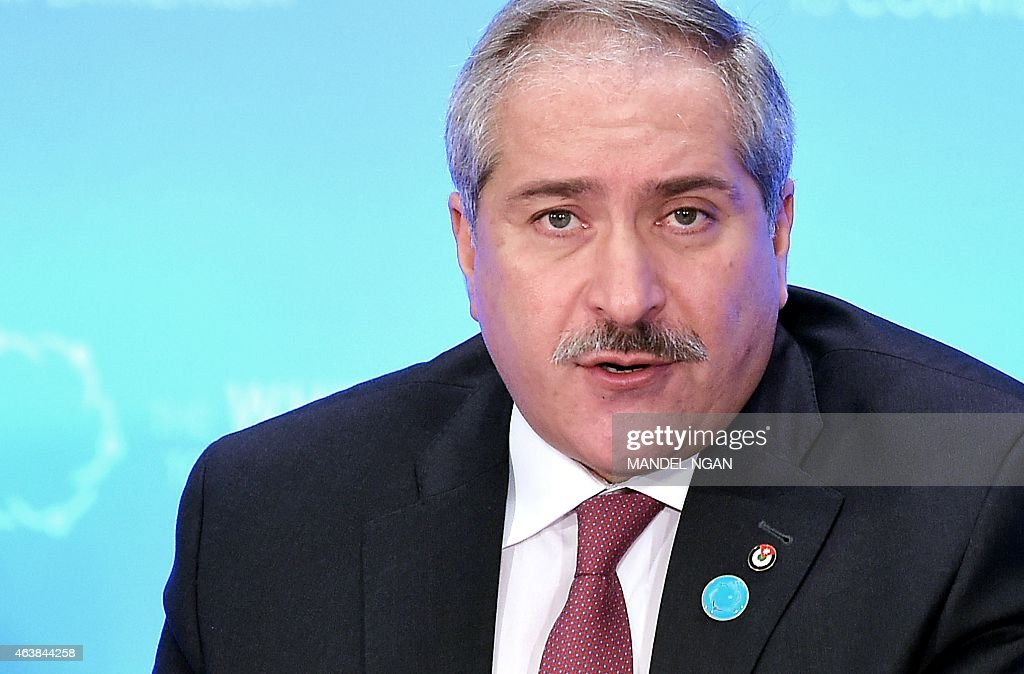 Jordan's Foreign Minister Nasser Judeh speaks at the White House Summit to Counter Violent Extremism at the State Department on February 19, 2015 in Washington, DC. AFP PHOTO/MANDEL NGAN