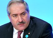 Jordan's Foreign Minister Nasser Judeh speaks at the White House Summit to Counter Violent Extremism at the State Department on February 19 2015 in...