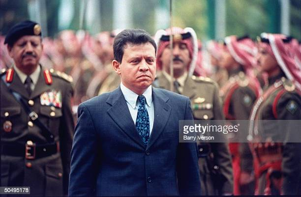 Jordan's King Abdullah II during funeral procession for his father King Hussein