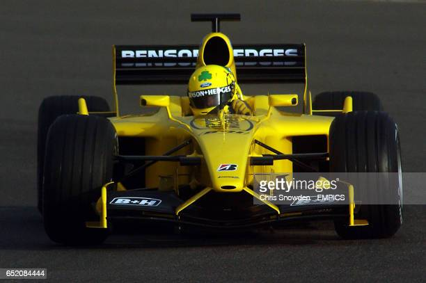 Jordan's new recuit Ralph Firman gets to grips with the new EJ13 during testing