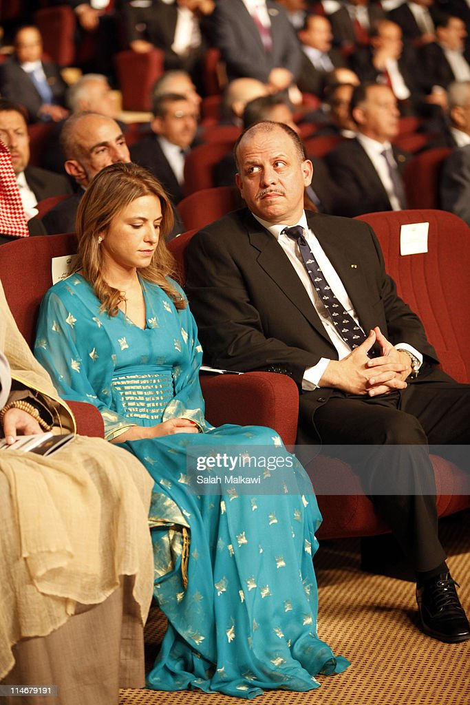 Jordan's Prince Faisal bin Al Hussein attends with his wife, Princess Sarah Al Faisal an official celebration for the 65th anniversary of Independence on May 25, 2011 in Amman, Jordan. The Hashemite Kingdom of Jordan gained independence from Britain on May 25, 1946.