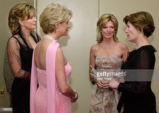 Jordan's Queen Noor Gala Chairman Penne Percy Korth Washington Ballet President of the Board of Directors Kay Kendall and US First Lady Laura Bush...