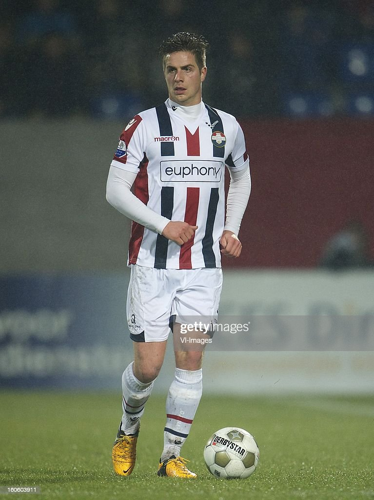 Jordens Peters of Willem II during the Dutch Eredivisie match between Willem II and Feyenoord at the Koning Willem II Stadium on february 3, 2013 in Tilburg, The Netherlands