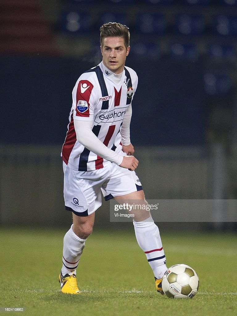 Jordens Peters of Willem II during the Dutch Eredivisie Match between Willem II and NEC Nijmegen at the Koning Willem II Stadium on february 22, 2013 in Tilburg, The Netherlands