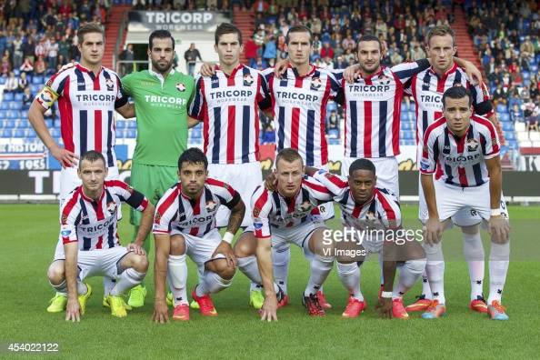 Jordens Peters of Willem II goalkeeper Kostas Lamprou of Willem II Dries Wuytens of Willem II Stijn Wuytens of Willem II Ben Sahar of Willem II Tim...