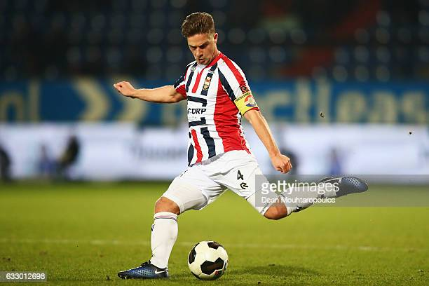 Jordens Peters of Willem II in action during the Dutch Eredivisie match between Willem II Tilburg held at Koning Willem II Stadium on January 27 2017...