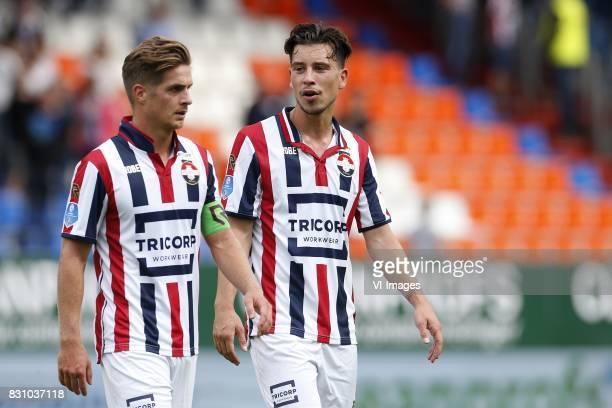 Jordens Peters of Willem II Thom Haye of Willem II during the Dutch Eredivisie match between Willem II Tilburg and sbv Excelsior at Koning Willem II...