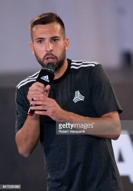 Jordi Alba attends an Adidas presentation held at the Italian Pavilion on September 14 2017 in Barcelona Spain