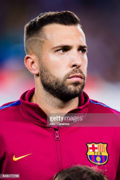 Jordi Alba of FC Barcelona looks on before the UEFA Champions League group D match between FC Barcelona and Juventus at Camp Nou on September 12 2017...