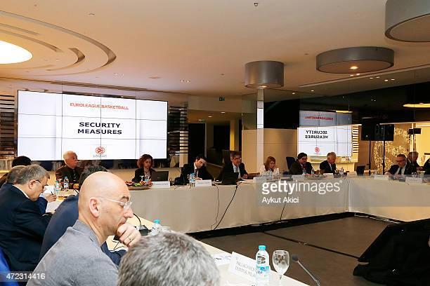 Jordi Bertomeu Euroleague Basketball President CEO during the Turkish Airlines Euroleague Basketball ECA Shareholders Meeting at Ulker Sports Arena...