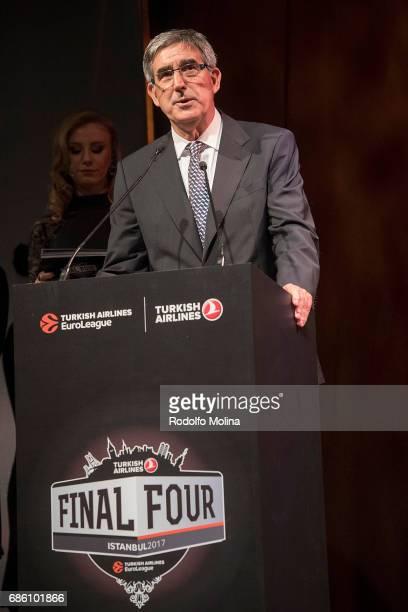 Jordi Bertomeu President and CEO EuroLeague Basketball during the 2016017 Turkish Airlines EuroLeague Awards Ceremony at Ciragan Palace on May 20...