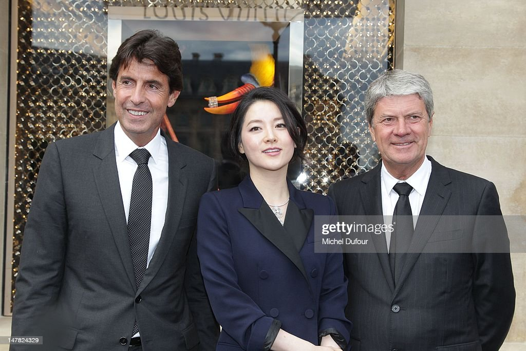 Jordi Constans Lee Young Ae and Yves Carcelle attend Louis Vuitton New Boutique Opening as part of Paris HauteCouture Fashion Week Fall / Winter 2013...